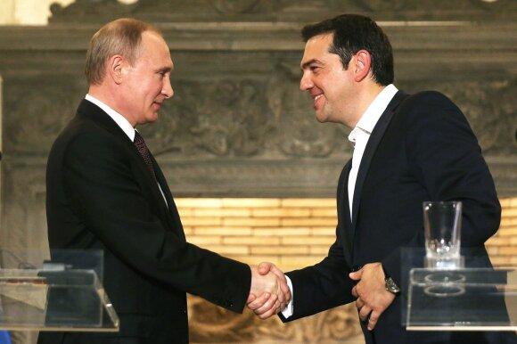 Vladimiras Putinas ir Alexis Tsipras Atėnuose