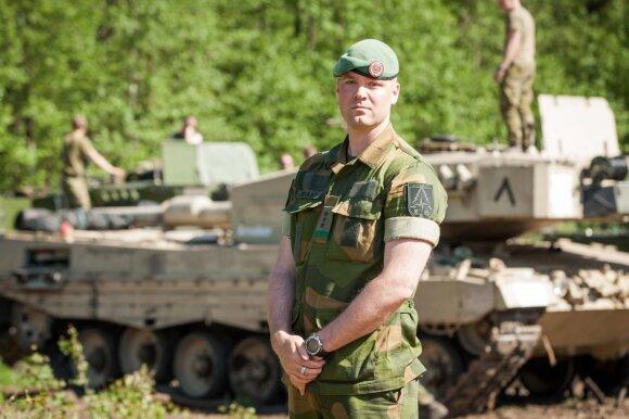 Lietuvoje dislokuotos Norvegijos kuopos vadas kapitonas Brage Reinaas