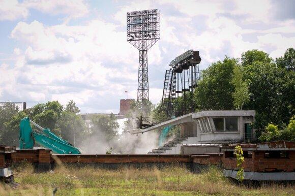Griaunamas Žalgirio stadionas