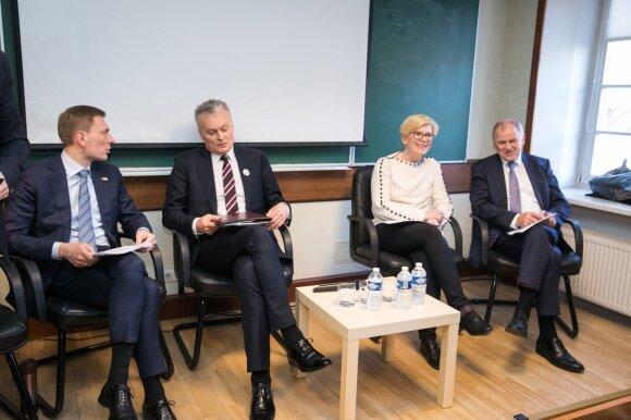 Mindaugas Puidokas, Gitanas Nausėda, Ingrida Šimonytė, Vytenis Andriukaitis