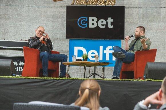 Kitokie pasikalbėjimai su D. Klajumu ir R.Šilansku / Foto: I. Gaižauskas