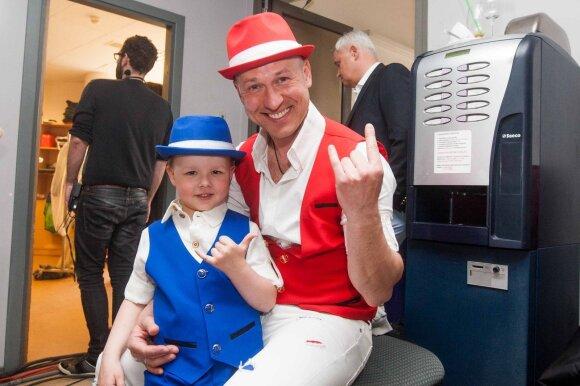 Algirdas Radzevičius su sūnumi