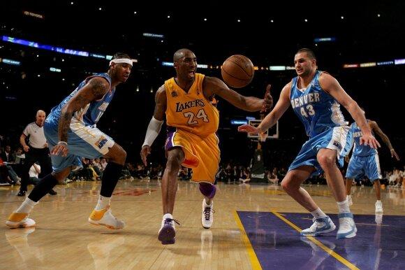 Carmelo Anthony, Kobe Bryantas ir Linas Kleiza
