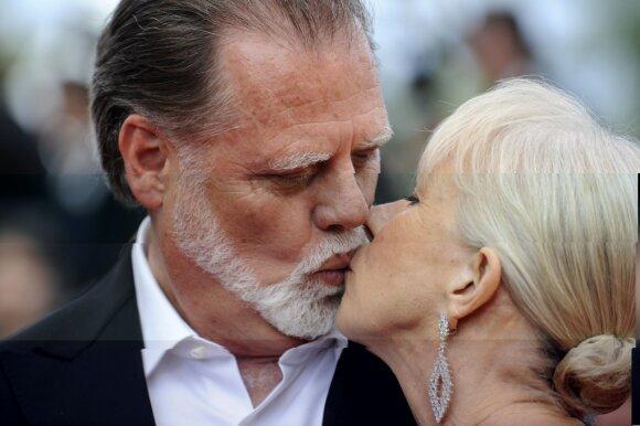 Helen Mirren su vyru Tayloru Hackfordu