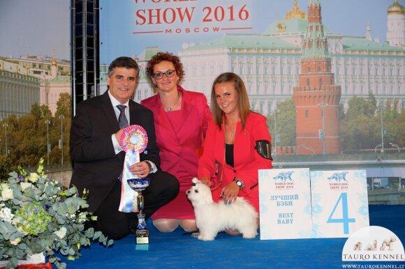 Urtė Tamaševičiūtė Pasaulinėje šunų parodoje