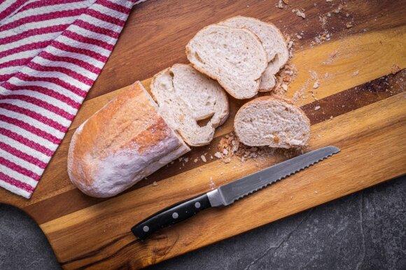 Dantytas peilis duonai raikyti