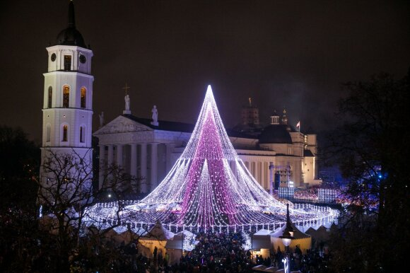 Kalėdų eglutės įžiebimas Vilniuje 2017 m.