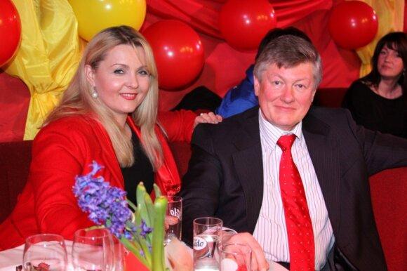 Artūras Paulauskas su žmona Jolanta