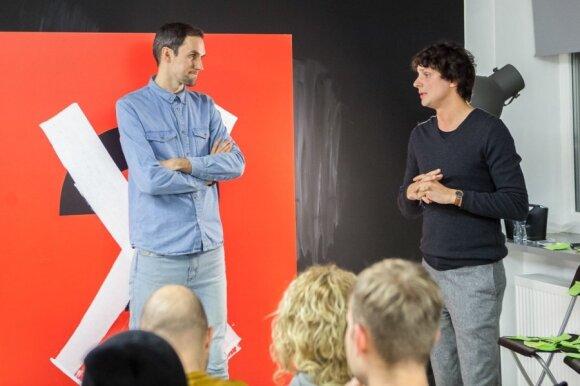 Kristupas Sabolius (dešinėje) ir Tomas Ramanauskas (kairėje)