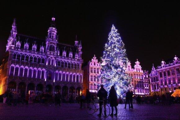 Kalėdų eglė Briuselyje