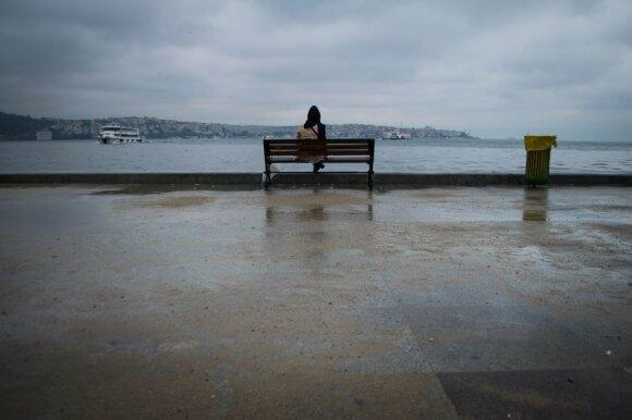 Pirmoji apsiniaukusi diena Stambule