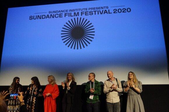 """Dokumentinio filmo """"Mėlyna kaip apelsinas žemė"""" pristatymo """"Sundance"""" akimirkos"""