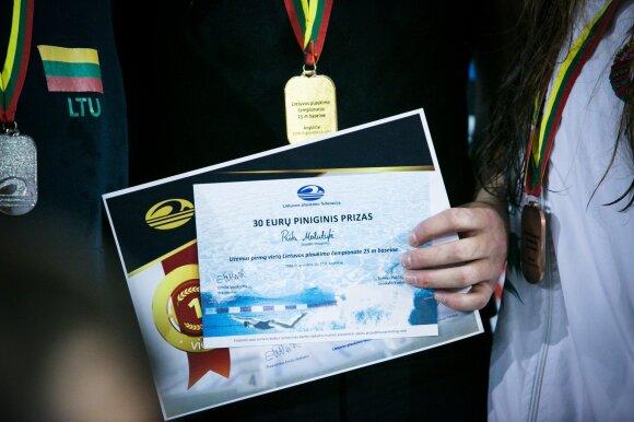 R. Meilutytei už tris Lietuvos čempionato aukso medalius – nepadori premija