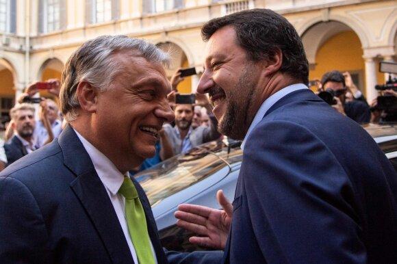 Viktoras Orbanas ir Matteo Salvini