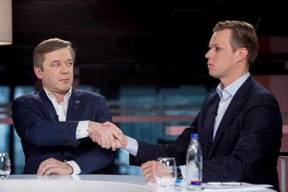 Ramūnas Karbauskis and Gabrielius Landsbergis