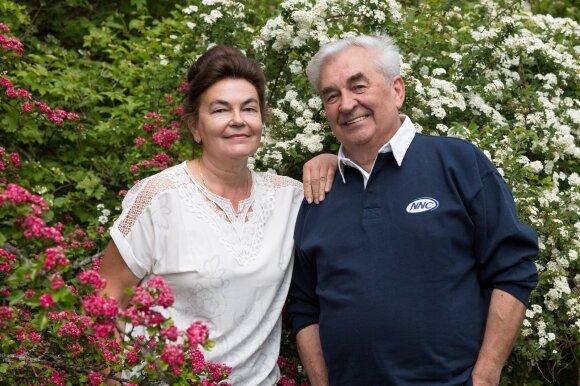 Viktoras Ševaldinas su žmona Rasa