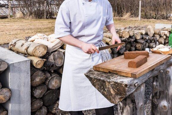 Islandija, ruginė duona dokkt rugbraud