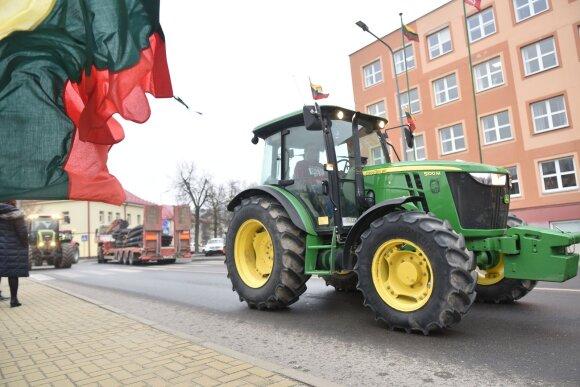 Ūkininkų protestas Lazdijuose