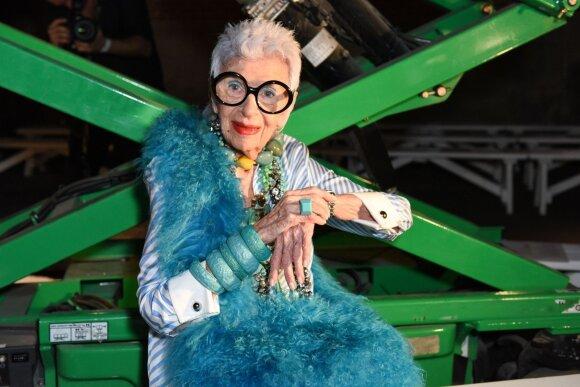 97-erių stiliaus ikona Iris Apfel: vis dar vilkiu suknelę, kurią įsigijau prieš 70 metų