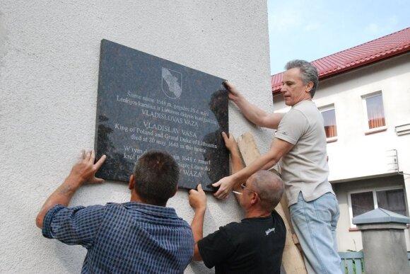Antanas Balkė (dešinėje)