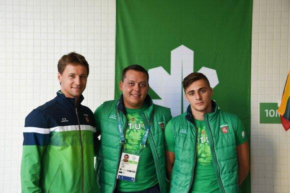 Puikiai nusiteikę R. Meilutytė, G. Titenis ir R. Berankis – jau Rio