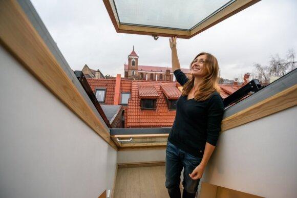 Pro palėpės langus atsveria nepakartojami Kauno senamiesčio vaizdai