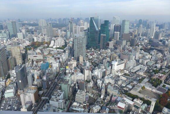 """Tokijo panorama pro """"Mori"""" muziejaus langus"""
