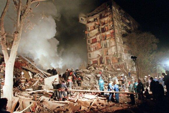 Susprogdintas daugiabutis Gurijanovos gatvėje, Maskvoje, 1999 m.