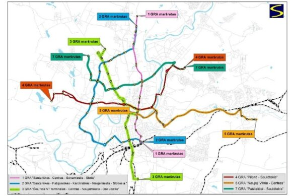 Planuojami Vilniaus greitųjų autobusų maršrutai