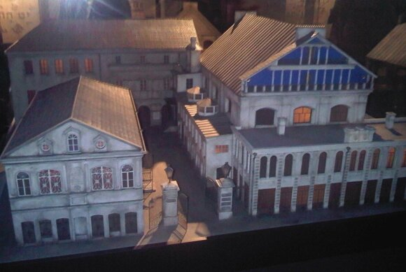 Scale model of the Great Synagogue of Vilna