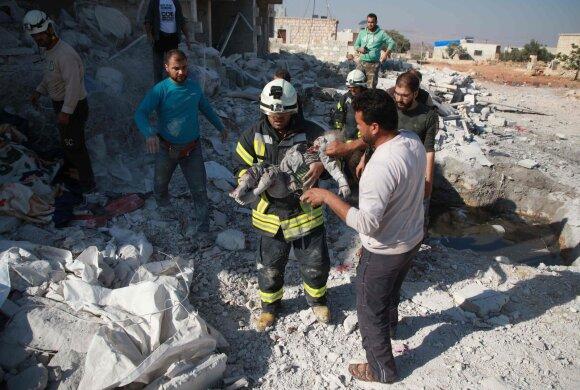 """""""Baltieji šalmai"""" Sirijoje"""