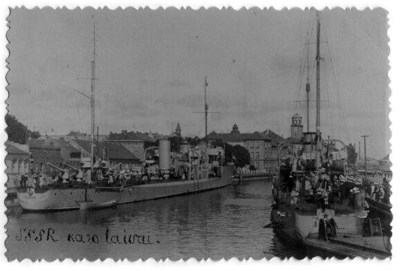 Sovietų karo laivai Klaipėdoje, iš Mažosios Lietuvos istorijos muziejaus rinkinių