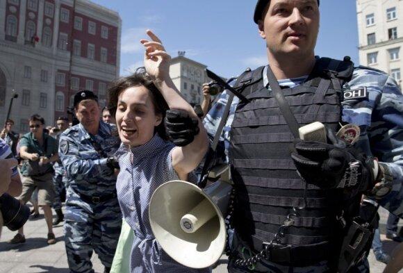 Rusijoje sulaikytos C. Wurst šalininkės