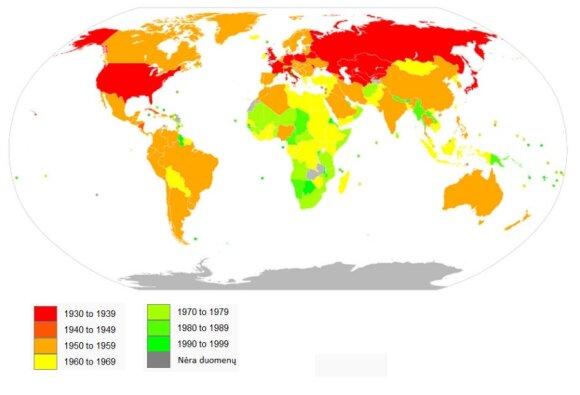 Televizijos paplitimo žemėlapis