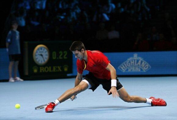 """Ant """"Greenset"""" dangos vyksta baigiamasis ATP sezono turnyras Londone"""