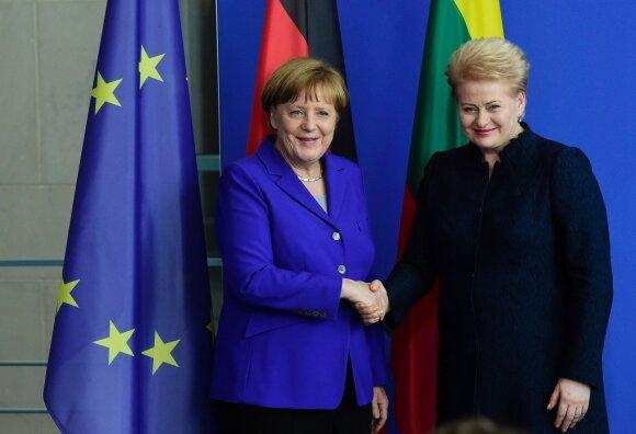 Dalios Grybauskaitės ir Angelos Merkel susitikimas