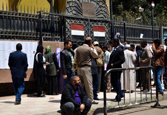 Jemeniečiai protestuoja prie Jemeno ambasados Kaire (2015 m.)