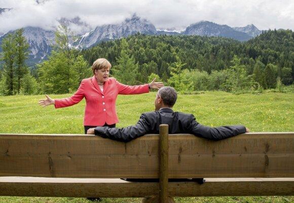 A. Merkel ir B. Obama