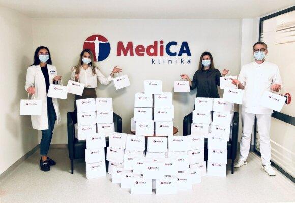 """""""MediCA klinika"""" dovanoti vitaminai padės mažamečiams formuoti tinkamus įpročius rūpintis savo sveikata"""