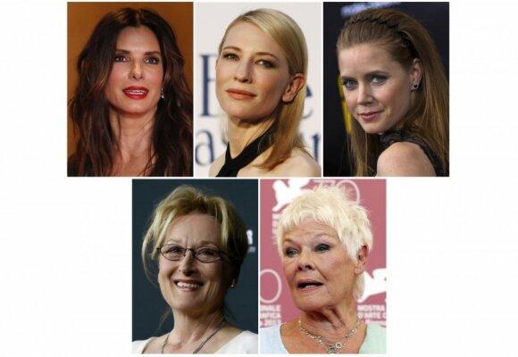 """Paskelbtos """"Oskarų"""" nominacijos: net į 10 statulėlių pretenduoja """"Amerikietiška afera"""" ir """"Gravitacija"""""""