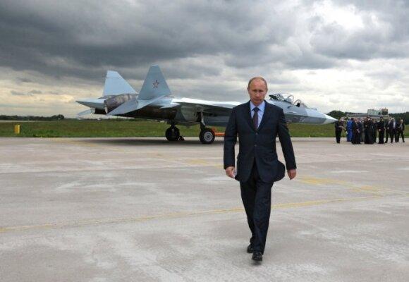 Vladimiras Putinas ir Suchoj PAK FA