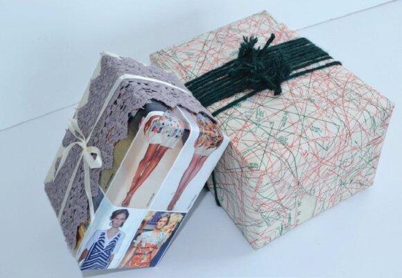 Kalėdinių dovanų įpakavimai