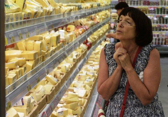 Kainos Rusijos parduotuvėse praėjus 3-iems metams po embargo stulbina