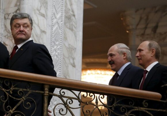 Petro Porošenka, Aleksandras Lukašenka, Vladimiras Putinas