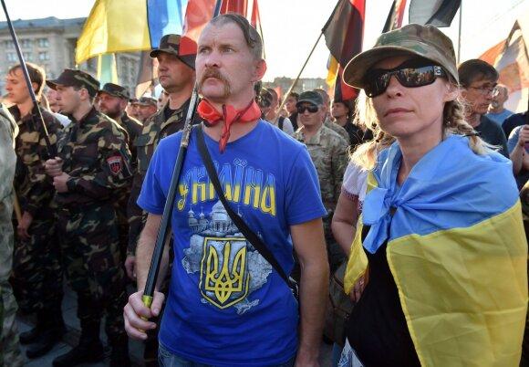 Dešiniojo sektoriaus mitingas Kijevo Maidane