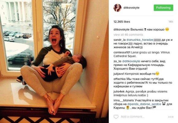 Дитковските опубликовала фото с сыном в Вильнюсе