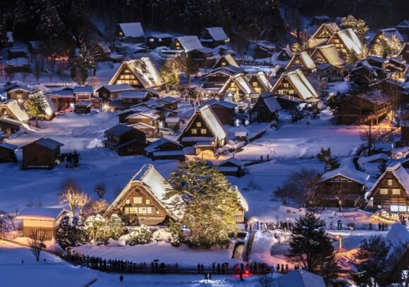 Širakavos kaimas Japonijoje