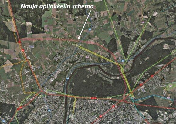 Brėžiami nauji Kauno šiaurinio aplinkkelio kontūrai