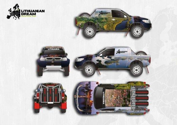 Lithuanian dream komandos automobilio dizaino projektas