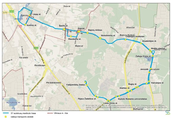 Vilniuje keičiami viešojo transporto tvarkaraščiai, kai kurių maršrutų trasos